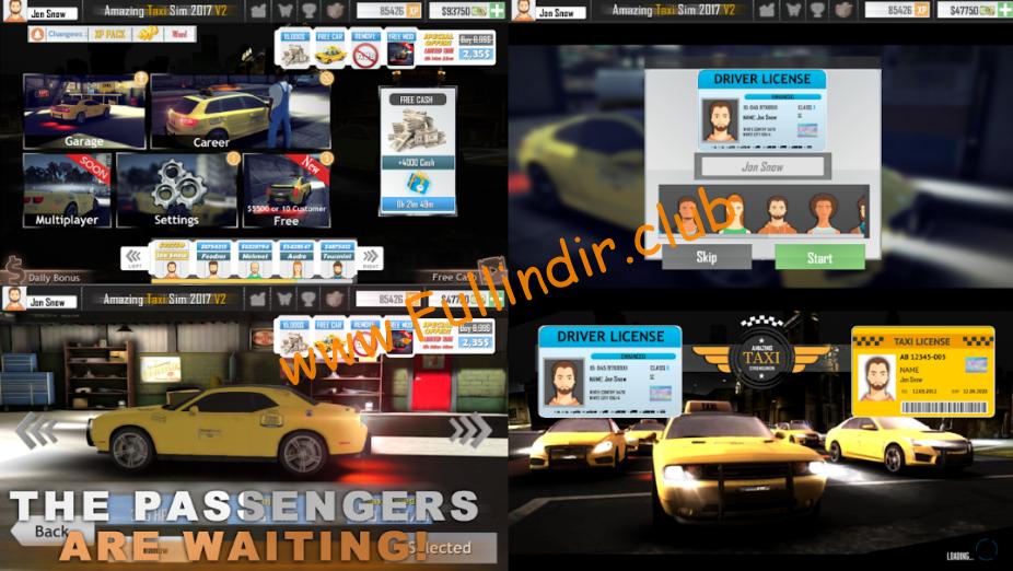 amazing taxi simulator v2 2019 full hileli