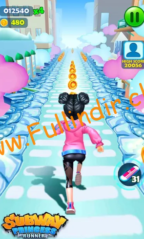 Subway Princess Runner full hileli