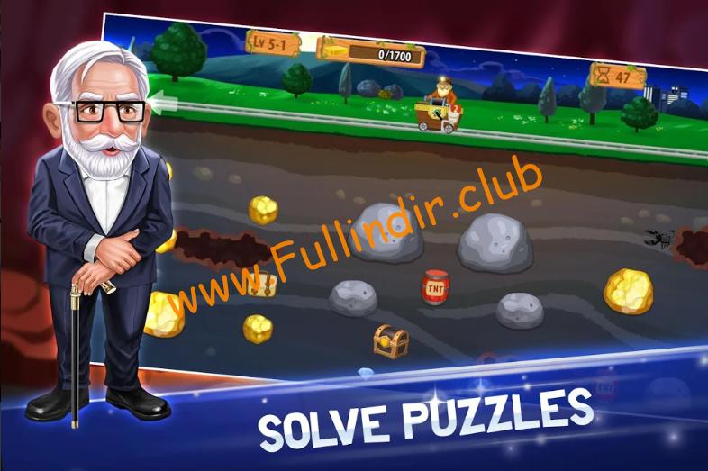 gold miner world tour full hileli apk indir