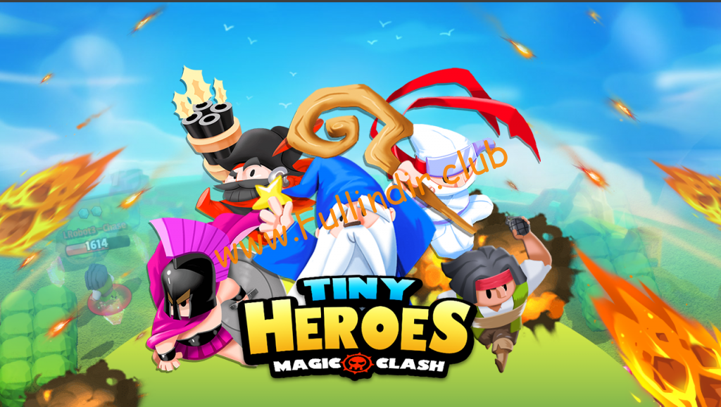 tiny heroes magic clash hileli apk indir