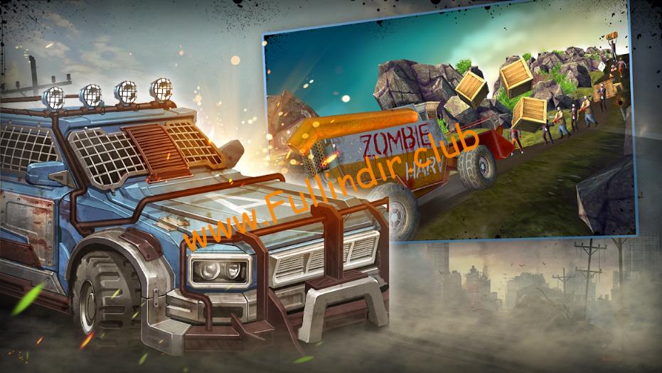wild truck hitting zombies full