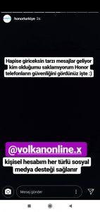 Honor türkiye instagram hesabı hacklendi